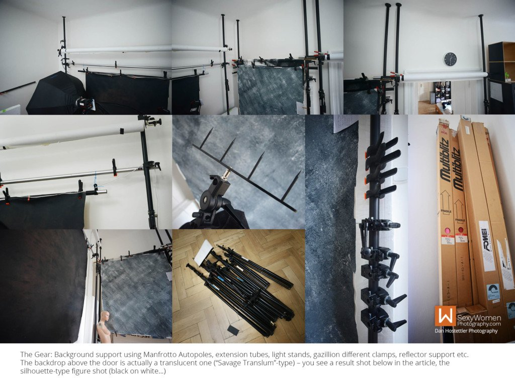 8 - Photo Background System, Clamps, Manfrotto, Helpers