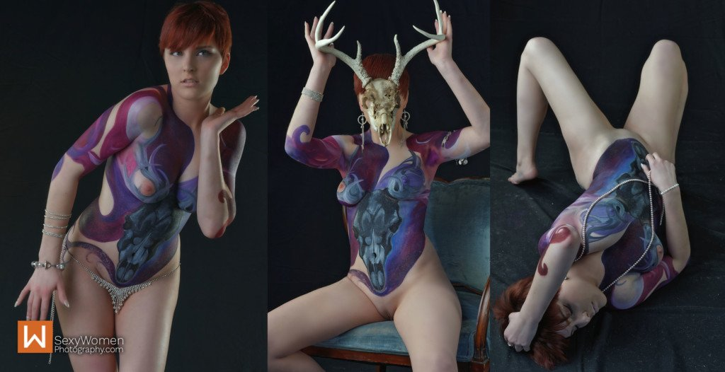 Body Painting in Art Nude Photography - Advanced Body Styling Part 2