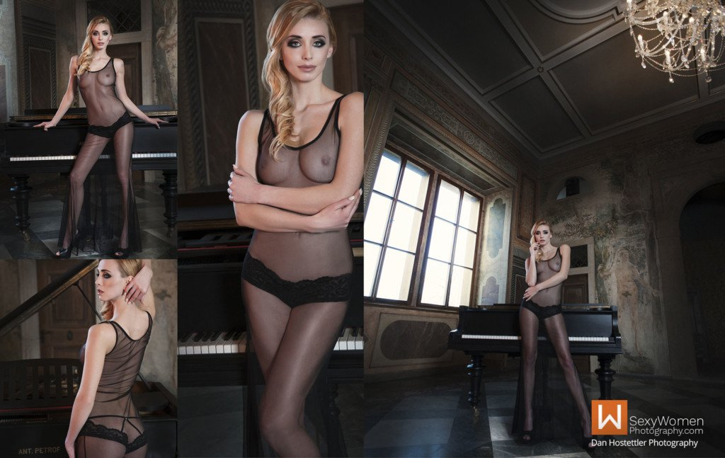 4 - Posing - Glamour Photo Shoot Classic Attitude With Czech Playmate Coxy Dominika