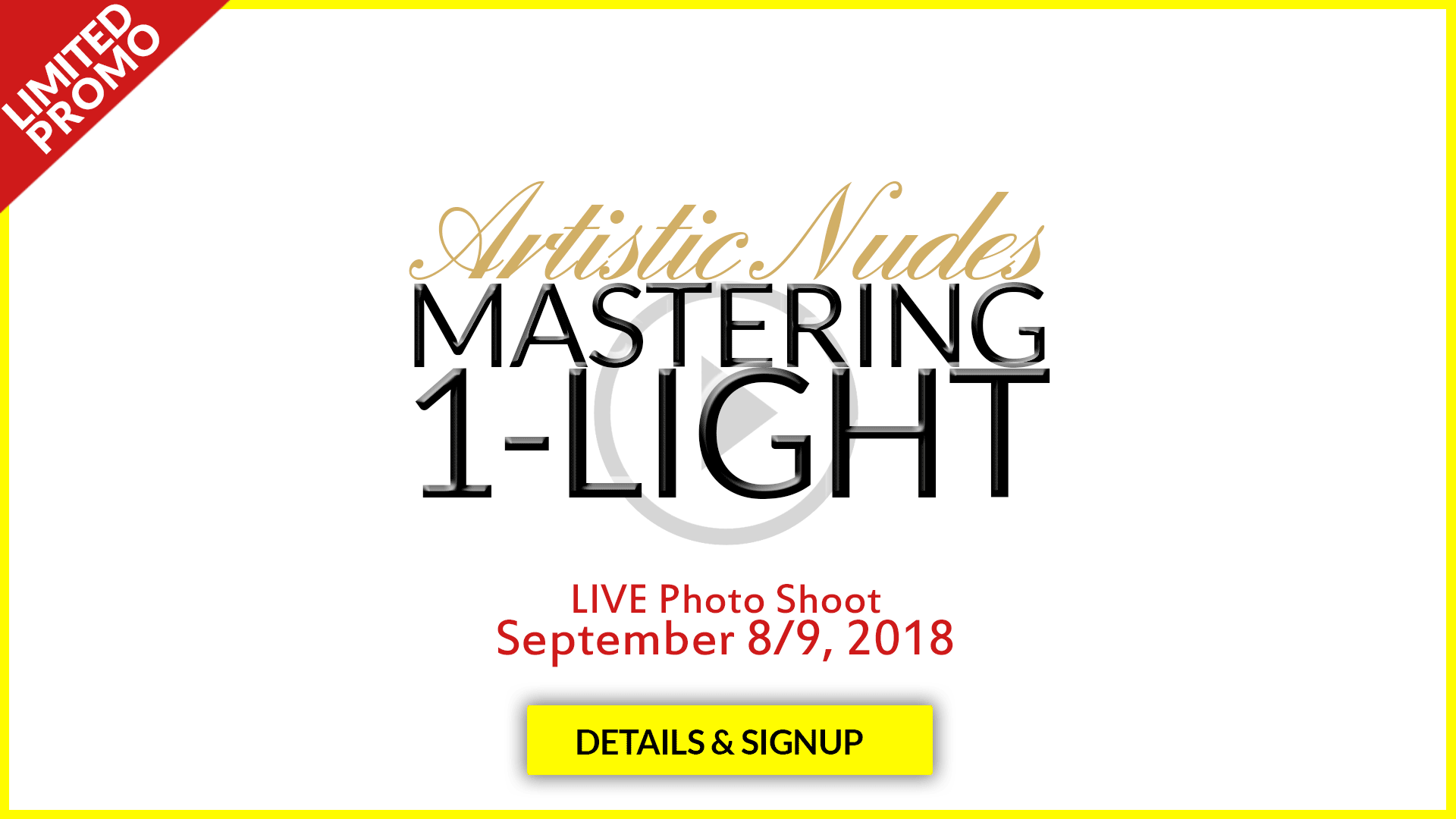 Artistic Nude Photography - Mastering 1 Light - LIVE Photo Shoot