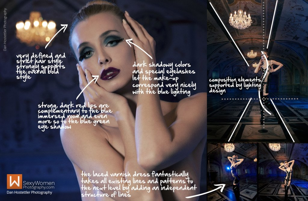 3 - Makeup & Styling - Avant Garde Photo Shoot Captive Accents With Czech Playmate Coxy Dominika